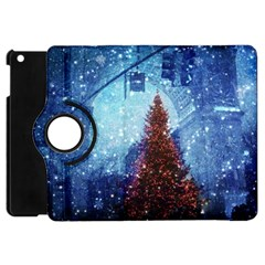 Elegant Winter Snow Flakes Gate Of Victory Paris France Apple iPad Mini Flip 360 Case