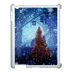 Elegant Winter Snow Flakes Gate Of Victory Paris France Apple Ipad 3/4 Case (white)