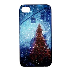 Elegant Winter Snow Flakes Gate Of Victory Paris France Apple iPhone 4/4S Hardshell Case with Stand