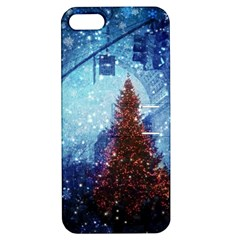 Elegant Winter Snow Flakes Gate Of Victory Paris France Apple iPhone 5 Hardshell Case with Stand