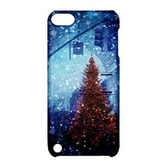 Elegant Winter Snow Flakes Gate Of Victory Paris France Apple iPod Touch 5 Hardshell Case with Stand