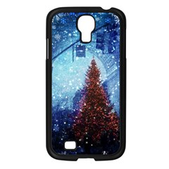 Elegant Winter Snow Flakes Gate Of Victory Paris France Samsung Galaxy S4 I9500/ I9505 (black)