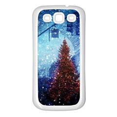 Elegant Winter Snow Flakes Gate Of Victory Paris France Samsung Galaxy S3 Back Case (White)