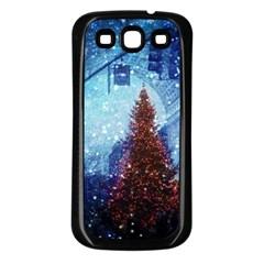 Elegant Winter Snow Flakes Gate Of Victory Paris France Samsung Galaxy S3 Back Case (Black)