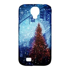 Elegant Winter Snow Flakes Gate Of Victory Paris France Samsung Galaxy S4 Classic Hardshell Case (PC+Silicone)