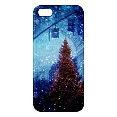 Elegant Winter Snow Flakes Gate Of Victory Paris France Iphone 5s Premium Hardshell Case