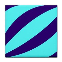 Purple Waves Ceramic Tile