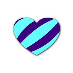 Purple Waves Drink Coasters 4 Pack (Heart)
