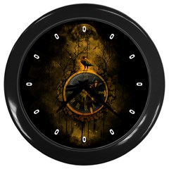 Time is Gold Wall Clock (Black)