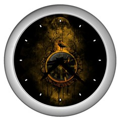 Time Is Gold Wall Clock (silver)