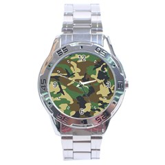 Woodland Camo Stainless Steel Watch (men s)