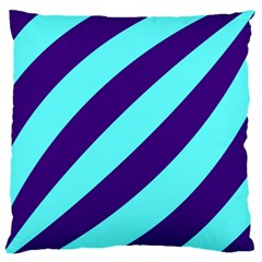 Purple Waves Large Cushion Case (two Sided)