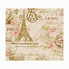 Floral Eiffel Tower Vintage French Paris Art Canvas 36  x 48  (Unframed)
