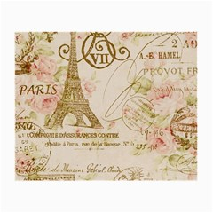 Floral Eiffel Tower Vintage French Paris Art Glasses Cloth (small, Two Sided)
