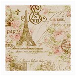 Floral Eiffel Tower Vintage French Paris Art Glasses Cloth (Medium, Two Sided) Front