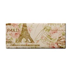 Floral Eiffel Tower Vintage French Paris Art Hand Towel