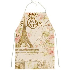 Floral Eiffel Tower Vintage French Paris Art Apron