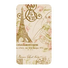 Floral Eiffel Tower Vintage French Paris Art Memory Card Reader (Rectangular)