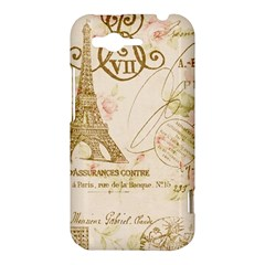 Floral Eiffel Tower Vintage French Paris Art HTC Rhyme Hardshell Case