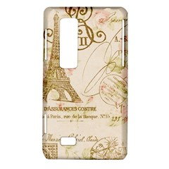 Floral Eiffel Tower Vintage French Paris Art LG Optimus 3D P920 / Thrill 4G P925 Hardshell Case