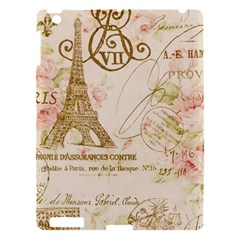 Floral Eiffel Tower Vintage French Paris Art Apple iPad 3/4 Hardshell Case
