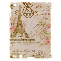 Floral Eiffel Tower Vintage French Paris Art Apple Ipad 3/4 Hardshell Case (compatible With Smart Cover)