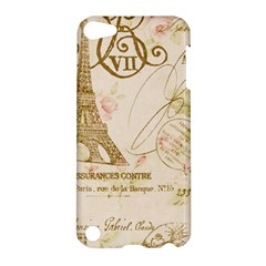 Floral Eiffel Tower Vintage French Paris Art Apple Ipod Touch 5 Hardshell Case