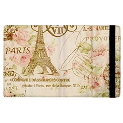 Floral Eiffel Tower Vintage French Paris Art Apple iPad 3/4 Flip Case
