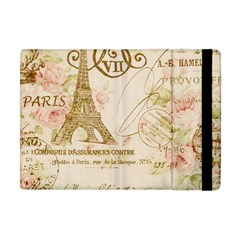 Floral Eiffel Tower Vintage French Paris Art Apple Ipad Mini Flip Case