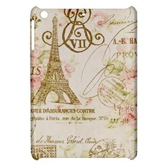 Floral Eiffel Tower Vintage French Paris Art Apple iPad Mini Hardshell Case