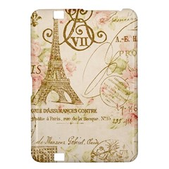 Floral Eiffel Tower Vintage French Paris Art Kindle Fire HD 8.9  Hardshell Case