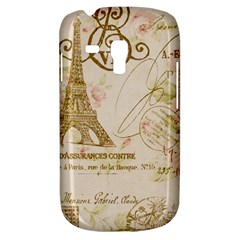 Floral Eiffel Tower Vintage French Paris Art Samsung Galaxy S3 MINI I8190 Hardshell Case