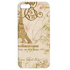 Floral Eiffel Tower Vintage French Paris Art Apple iPhone 5 Hardshell Case with Stand
