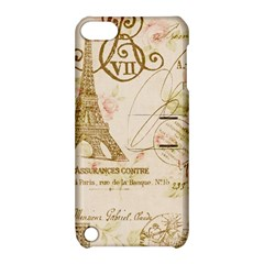Floral Eiffel Tower Vintage French Paris Art Apple iPod Touch 5 Hardshell Case with Stand