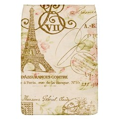 Floral Eiffel Tower Vintage French Paris Art Removable Flap Cover (Small)