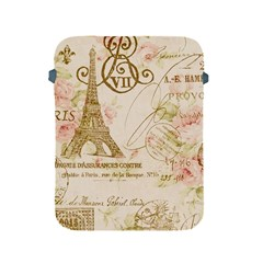 Floral Eiffel Tower Vintage French Paris Art Apple Ipad 2/3/4 Protective Soft Case
