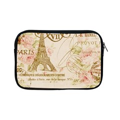 Floral Eiffel Tower Vintage French Paris Art Apple Ipad Mini Zipper Case