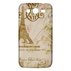 Floral Eiffel Tower Vintage French Paris Art Samsung Galaxy Mega 5 8 I9152 Hardshell Case