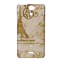 Floral Eiffel Tower Vintage French Paris Art Sony Xperia V Hardshell Case