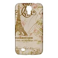 Floral Eiffel Tower Vintage French Paris Art Samsung Galaxy Mega 6.3  I9200