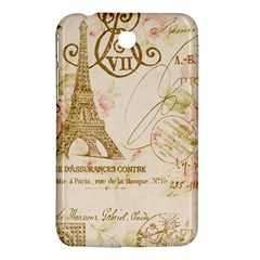Floral Eiffel Tower Vintage French Paris Art Samsung Galaxy Tab 3 (7 ) P3200 Hardshell Case