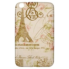 Floral Eiffel Tower Vintage French Paris Art Samsung Galaxy Tab 3 (8 ) T3100 Hardshell Case