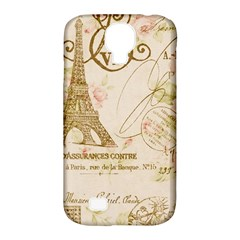 Floral Eiffel Tower Vintage French Paris Art Samsung Galaxy S4 Classic Hardshell Case (PC+Silicone)