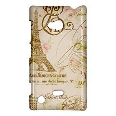 Floral Eiffel Tower Vintage French Paris Art Nokia Lumia 720 Hardshell Case