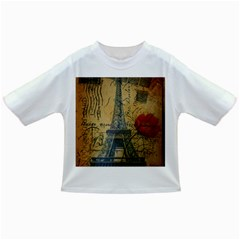 Vintage Stamps Postage Poppy Flower Floral Eiffel Tower Vintage Paris Baby T Shirt