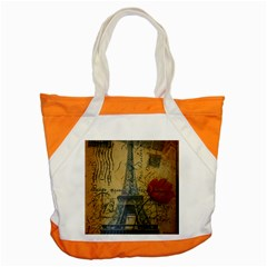 Vintage Stamps Postage Poppy Flower Floral Eiffel Tower Vintage Paris Accent Tote Bag
