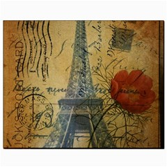 Vintage Stamps Postage Poppy Flower Floral Eiffel Tower Vintage Paris Canvas 8  x 10  (Unframed)