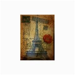 Vintage Stamps Postage Poppy Flower Floral Eiffel Tower Vintage Paris Canvas 24  x 36  (Unframed)