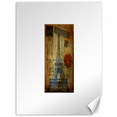 Vintage Stamps Postage Poppy Flower Floral Eiffel Tower Vintage Paris Canvas 36  x 48  (Unframed)