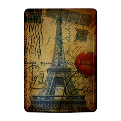 Vintage Stamps Postage Poppy Flower Floral Eiffel Tower Vintage Paris Kindle 4 Hardshell Case